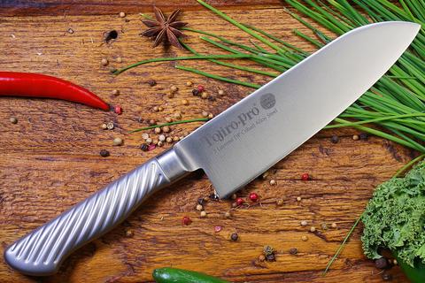 Кухонный нож Сантоку, Tojiro PRO, F-895, сталь VG-10. Вид 6