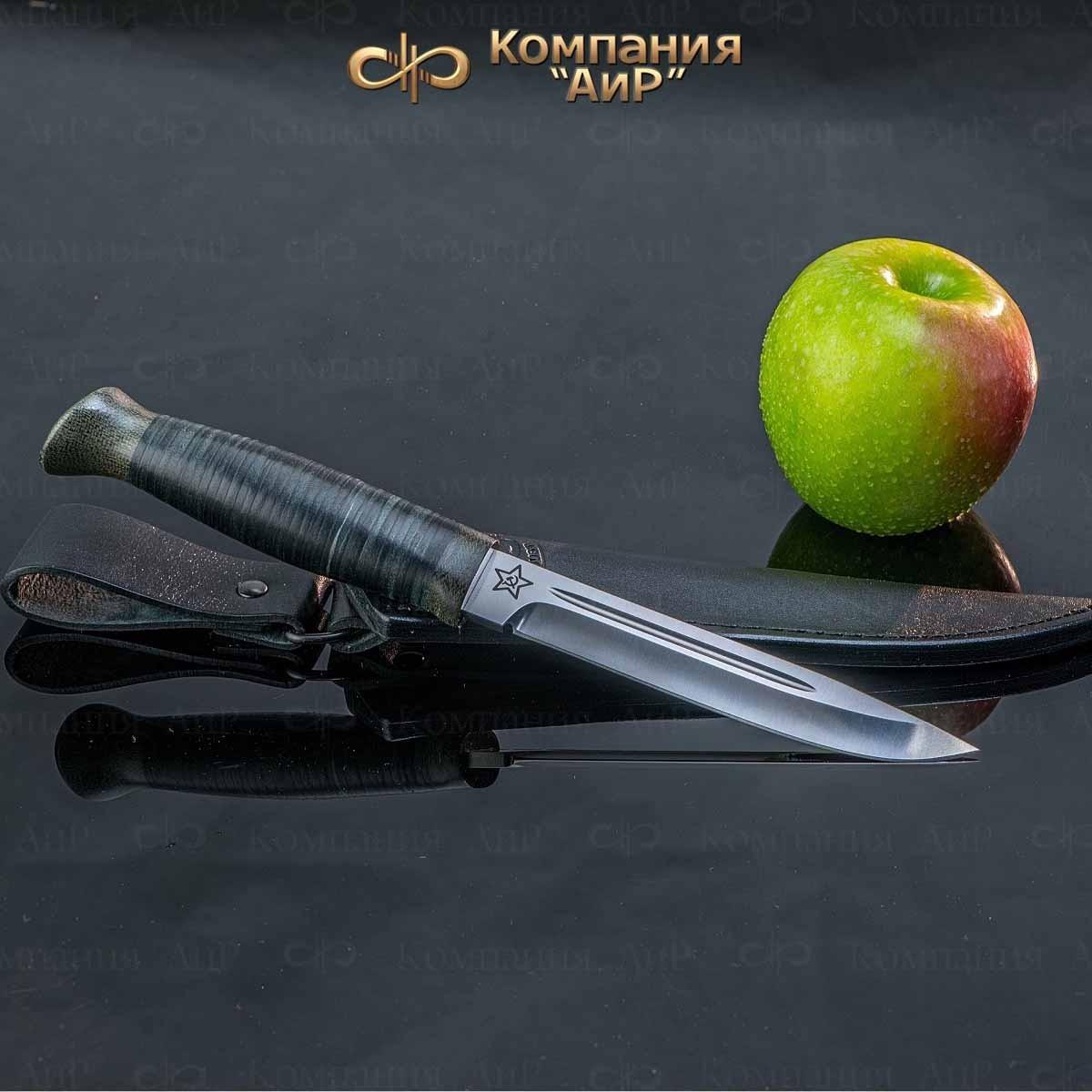 Фото - Нож разделочный АиР Финка-3, сталь 110х18 М-ШД, рукоять кожа нож аир хазар сталь 110х18 м шд рукоять кожа