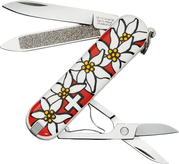 Нож перочинный Victorinox Classic Edelweiss, 58 мм, 7 функций, подарочная коробка