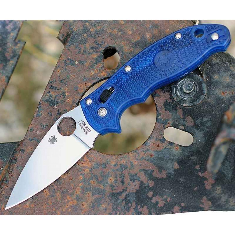 Фото 8 - Нож складной Manix 2 Lightweight Blue Spyderco 101PBL2, сталь Carpenter CTS™ - BD1 Alloy Satin Plain, рукоять пластик FRCP, синий