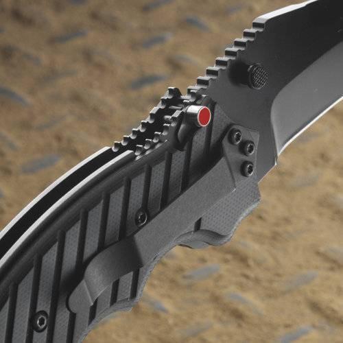 Фото 10 - Складной нож CRKT 1030TS Triumph, сталь AUS-8 Tiger Stripe, рукоять стеклотекстолит G10