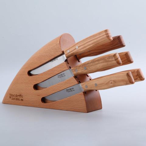 Набор ножей для стейка LionSteel с подставкой - 9001C UL, 6 шт. Вид 1