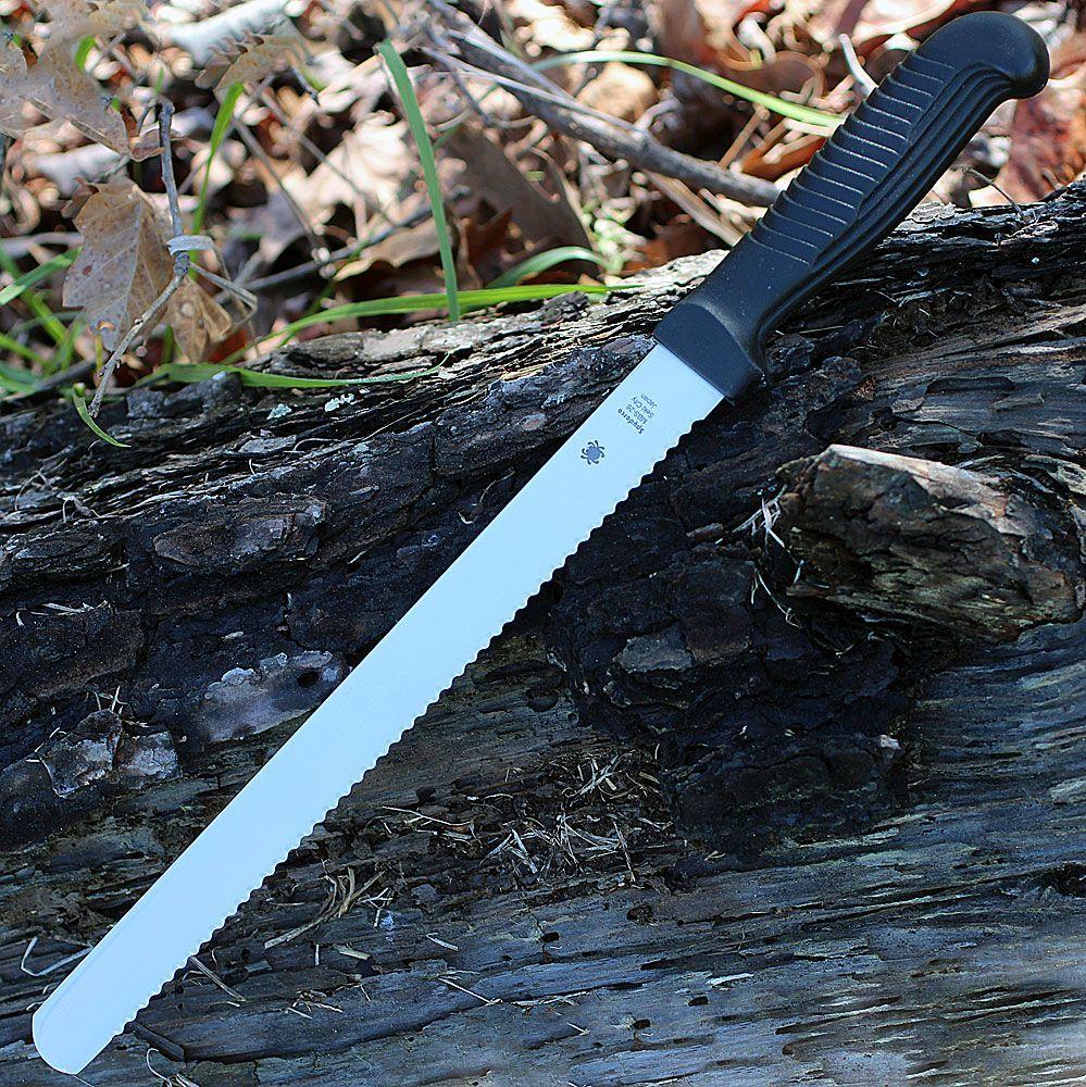 Фото 7 - Кухонный нож для хлеба Spyderco Bread Knife - K01SBK, сталь MBS-26, рукоять полипропилен