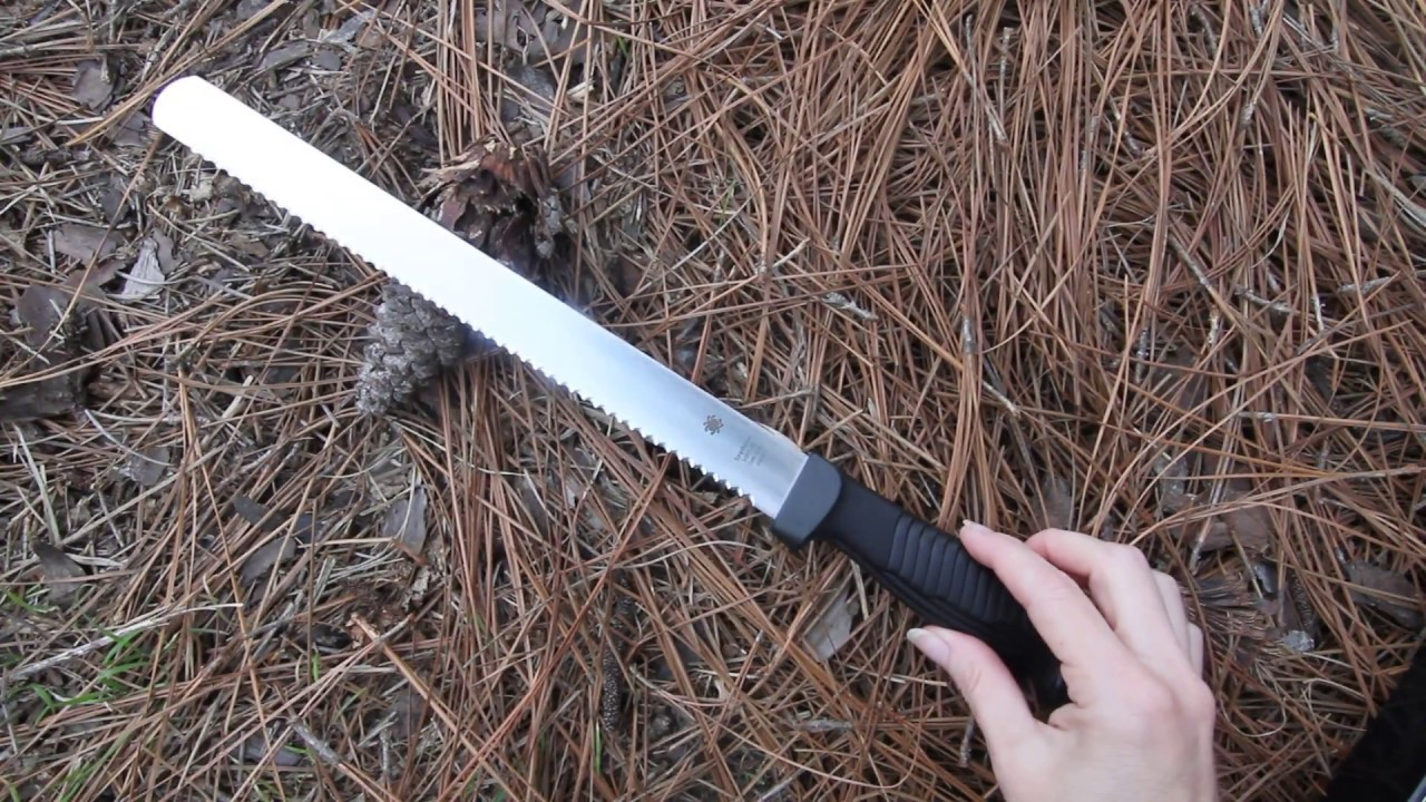 Фото 8 - Кухонный нож для хлеба Spyderco Bread Knife - K01SBK, сталь MBS-26, рукоять полипропилен