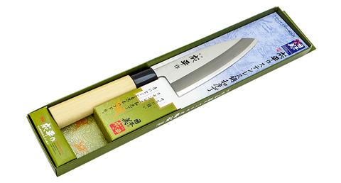 Нож Кухонный Деба, Narihira, Tojiro, FC-70, сталь AUS-8, дуб, в картонной коробке. Вид 3