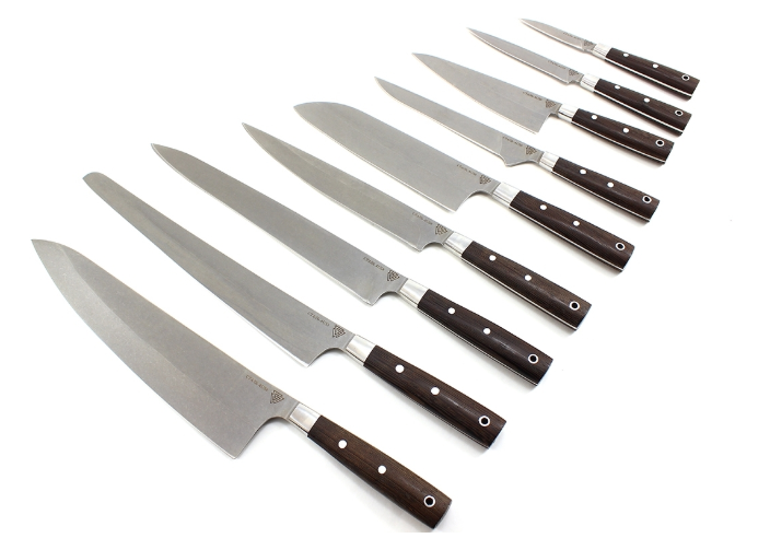 Набор из 9 кухонных ножей №2 , AUS8