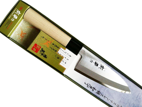 Нож Кухонный Деба, Narihira, Tojiro, FC-70, сталь AUS-8, дуб, в картонной коробке. Вид 4