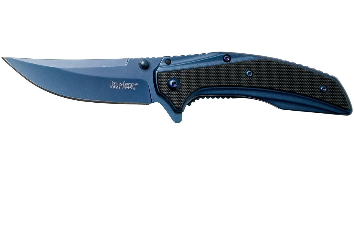 Фото 10 - Нож складной Outright - KERSHAW 8320, сталь 8Cr13MoV, рукоять G10, синий