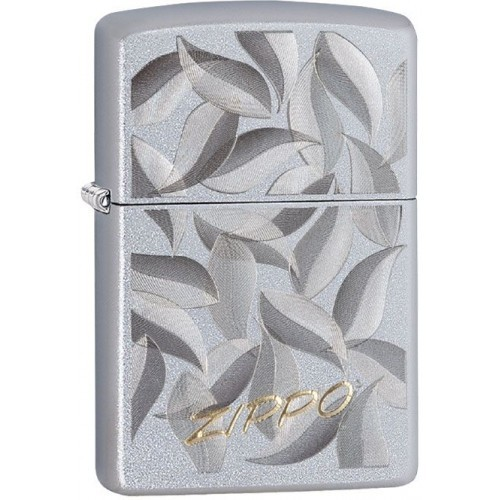 Зажигалка ZIPPO с покрытием Satin Chrome, латунь/сталь, серебристая, матовая, 36x12x56 мм цена