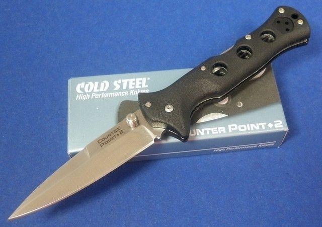 Фото 15 - Складной нож Counter Point II - Cold Steel 10ACNC, сталь 440C, рукоять Grivory® (высококачественный полимер) черная