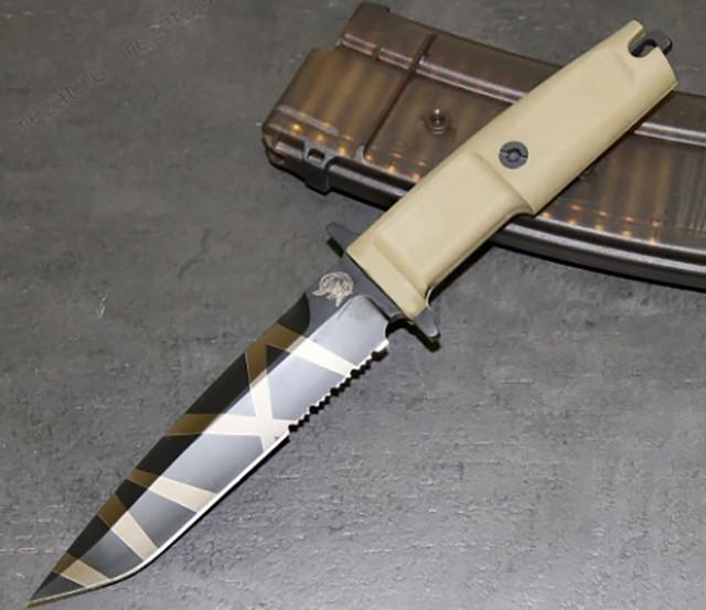 Фото 4 - Нож с фиксированным клинком Extrema Ratio Col Moschin Desert Warfare - Laser Engraving, сталь Bhler N690, рукоять пластик