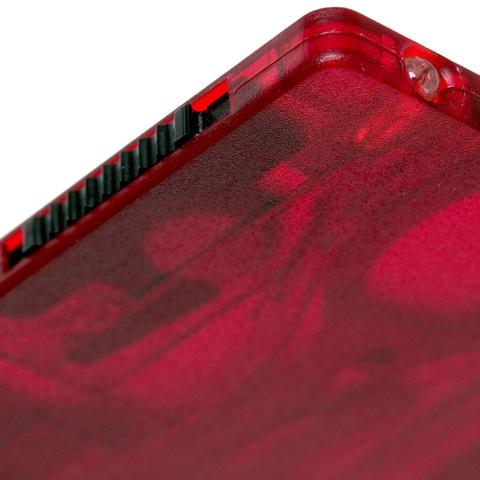 Швейцарская карта Victorinox SwissCard Lite, сталь X50CrMoV15, рукоять ABS-пластик, полупрозрачный красный, блистер. Вид 6