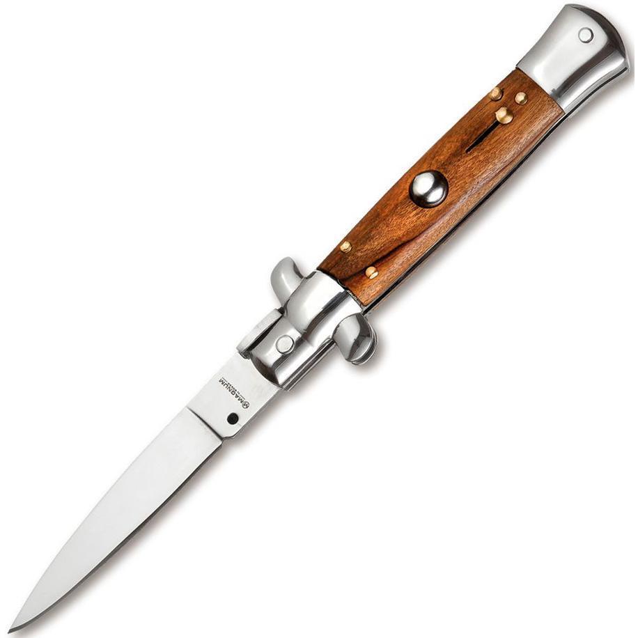 Фото - Полуавтоматический складной нож Magnum Sicilian Needle Olive Wood, сталь 440A Satin Plain, рукоять дерево, 01MB279 от Boker