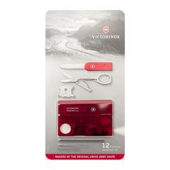 Швейцарская карта Victorinox SwissCard Lite, сталь X50CrMoV15, рукоять ABS-пластик, полупрозрачный красный, блистер, фото 8