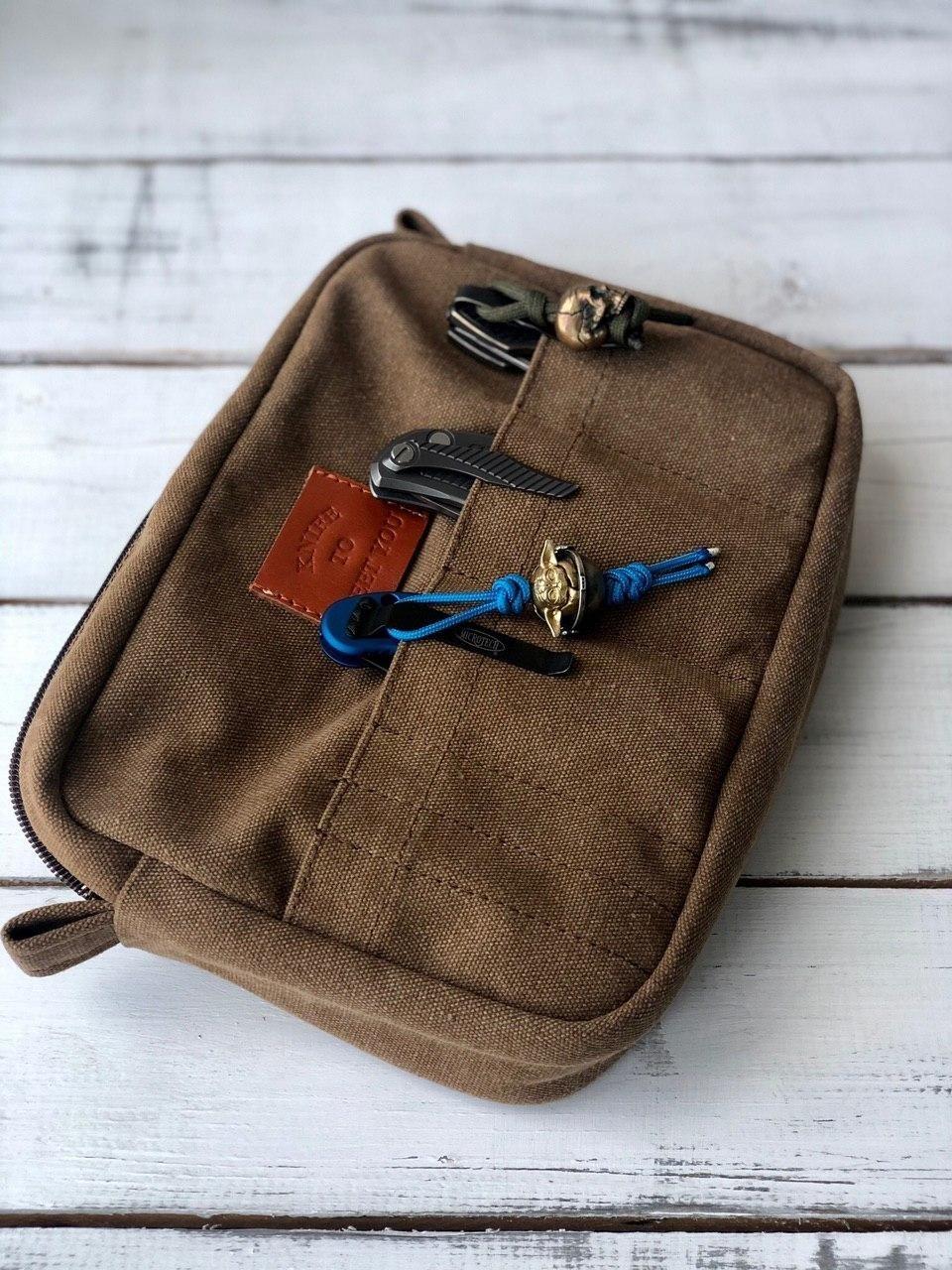 Сумка для 11 складных ножей Knife to meet you BAG-NEC, коричневая