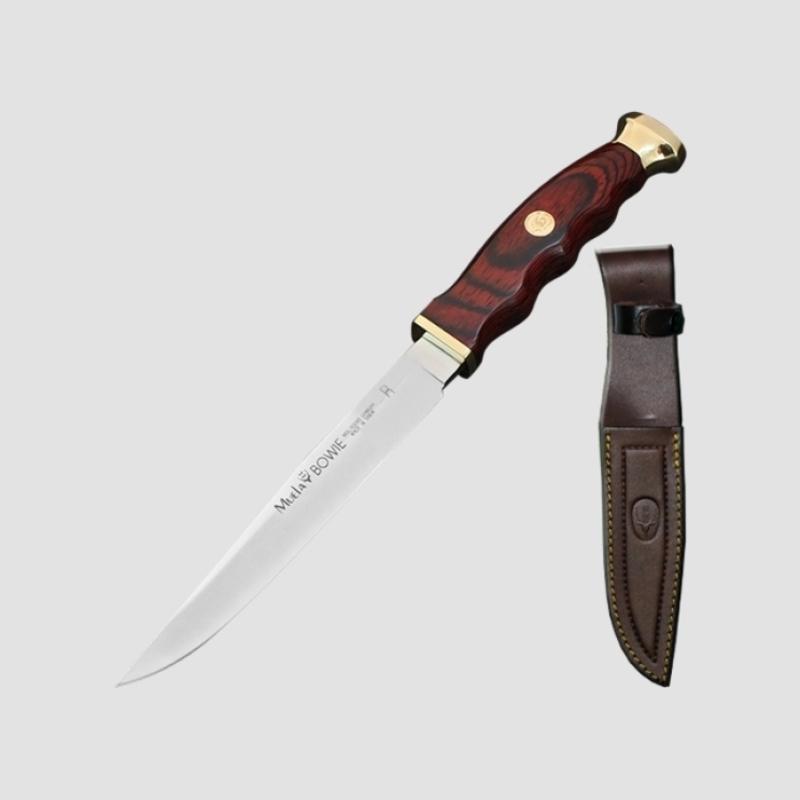 Фото 14 - Нож с фиксированным клинком Muela Bowie, сталь X50CrMoV15, рукоять  Pakka Wood, коричневый