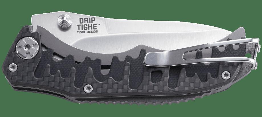 Фото 8 - Полуавтоматический складной нож Drip Tighe, CRKT 1190, сталь 8Cr13MoV Satin, рукоять carbon fiber/G10