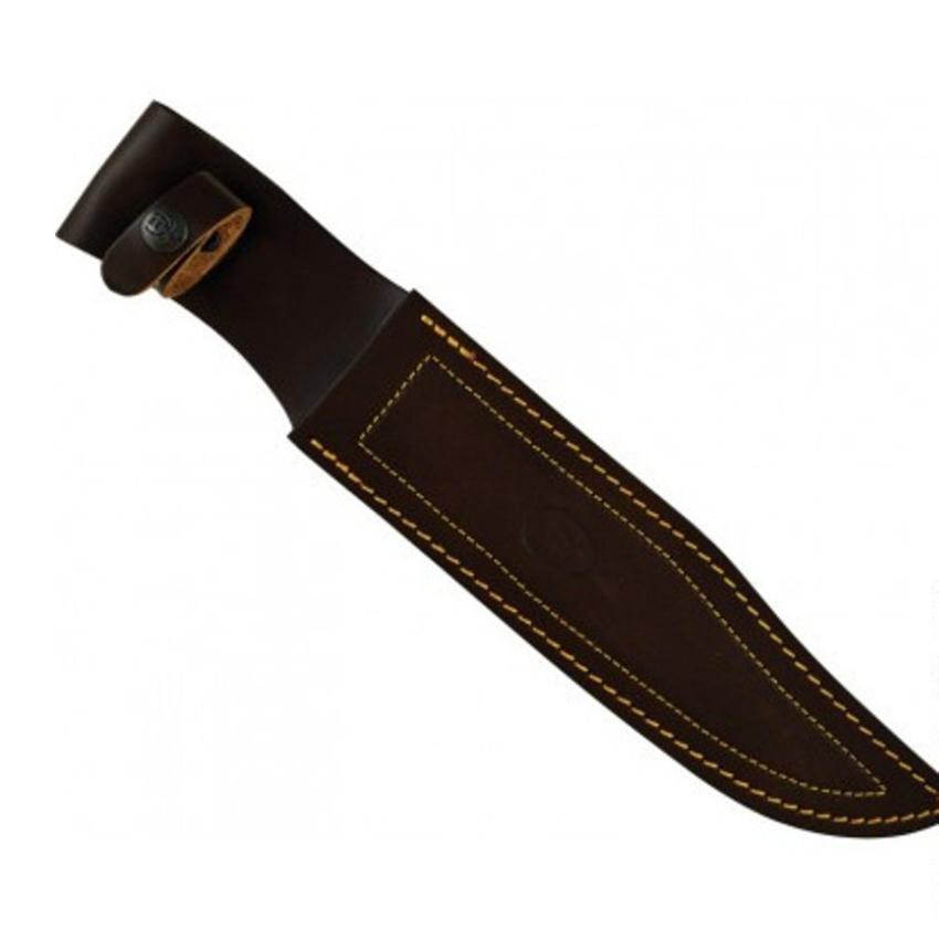 Фото 13 - Нож с фиксированным клинком Muela Bowie, сталь X50CrMoV15, рукоять  Pakka Wood, коричневый