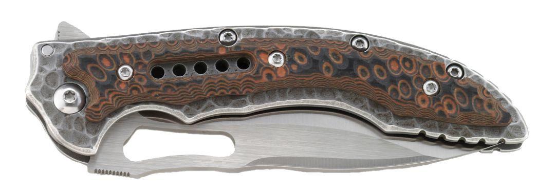Фото 6 - Складной нож CRKT Fossil, сталь 8Cr13MoV, рукоять нержавеющая сталь, накладки G10