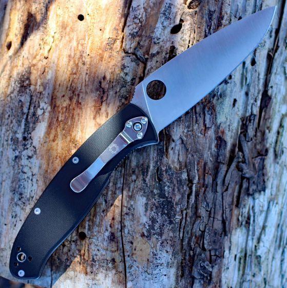 Фото 7 - Нож складной Resilience™ Spyderco C142GP, сталь 8Cr13MOV Satin Plain, рукоять стеклотекстолит G-10, чёрный