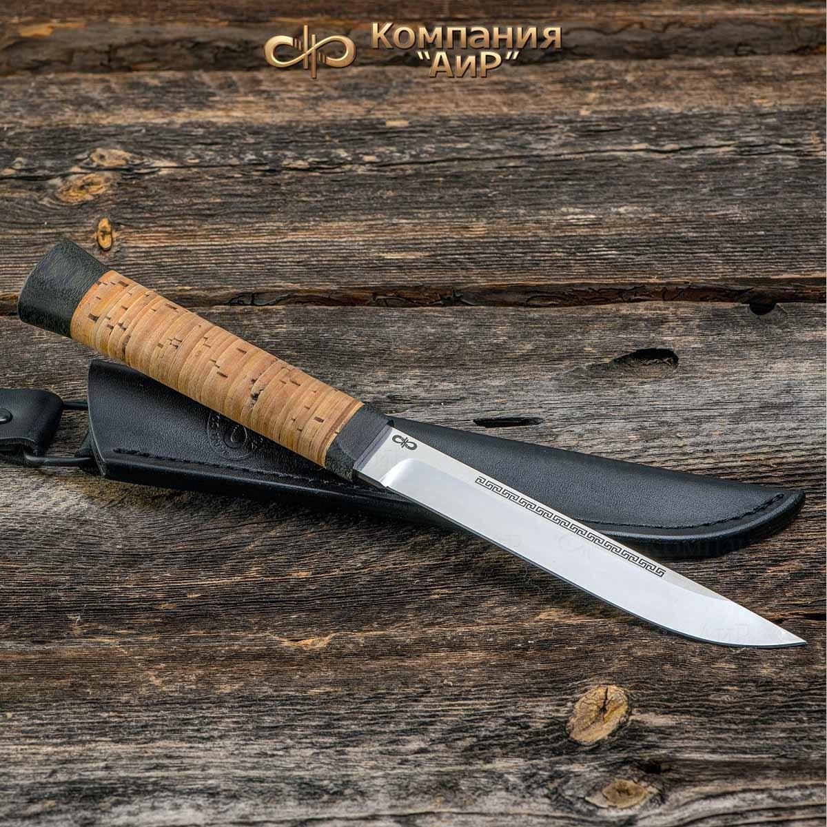 Нож АиР Бурятский средний,сталь 95х18, рукоять береста