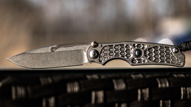 Фото 10 - Нож складной Chris Reeve Ti-Lock - Elemental, Hematite Cabochon, сталь CPM-S35VN, рукоять титан