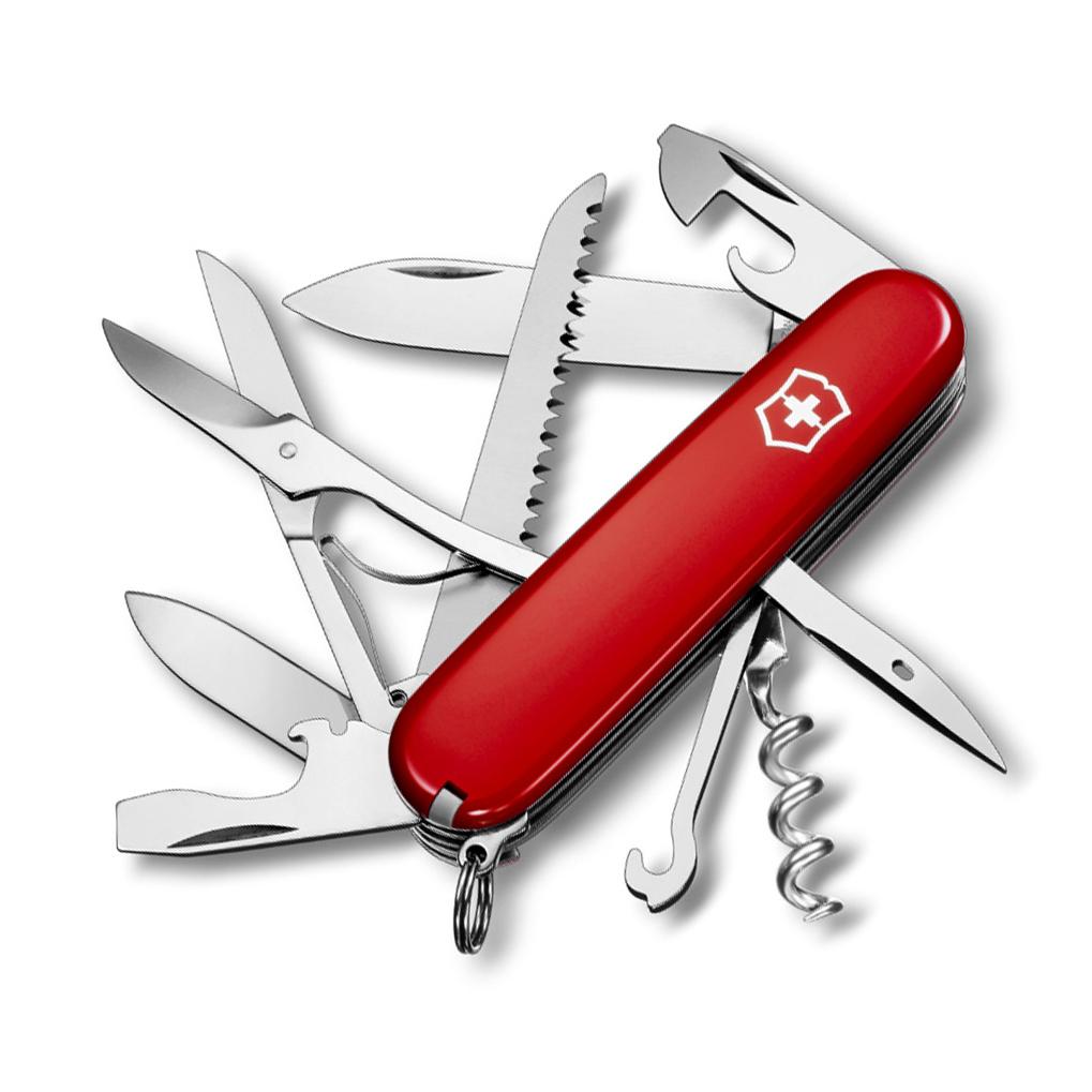 Нож перочинный Victorinox Huntsman, сталь X55CrMo14, рукоять Cellidor®, красный