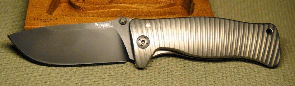 Фото 5 - Нож складной LionSteel SR1 BB, сталь Uddeholm Sleipner, рукоять титан от Lion Steel