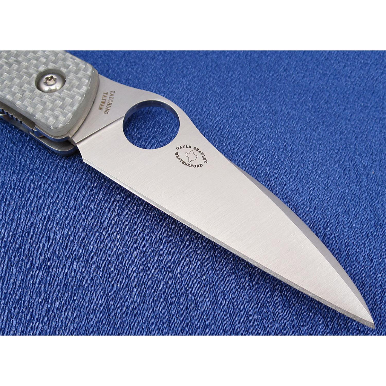 Фото 17 - Нож складной Air™ (дизайнер Gayle Bradley) Spyderco 159GFP, сталь CPM-M4 Satin Plain, рукоять термопластик/титан серый