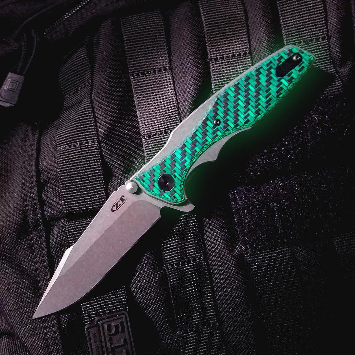 Фото 3 - Складной нож Zero Tolerance 0393GLCF, сталь CPM-20CV, рукоять титан/карбон