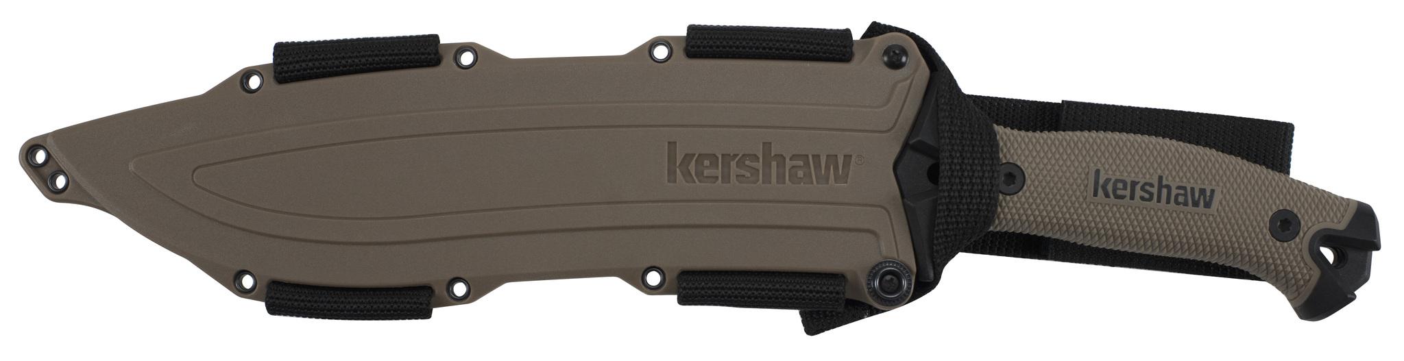 Фото 4 - Кукри мачете Camp 10 TAN - Kershaw 1077TAN, сталь 65MN Carbon, рукоять прорезиненный термопластик, коричневый