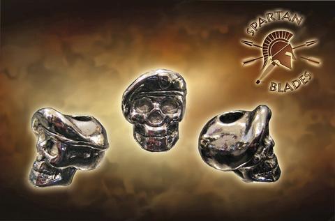 Темляк с бусиной Black Para-Cord Lanyard with Beret Skull Bead - Nozhikov.ru