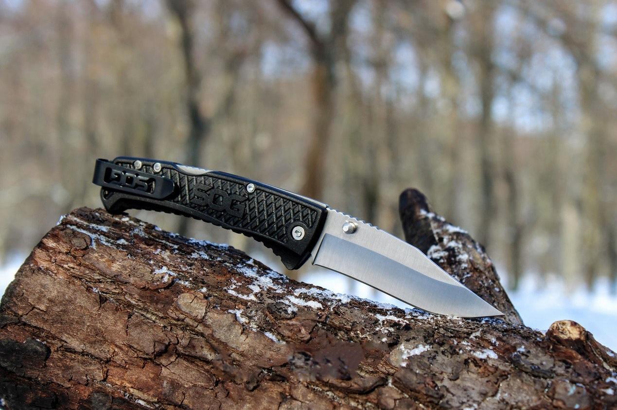 Фото 7 - Складной нож Traction - SOG TG1011, сталь 5Cr13MoV, рукоять термопластик GRN