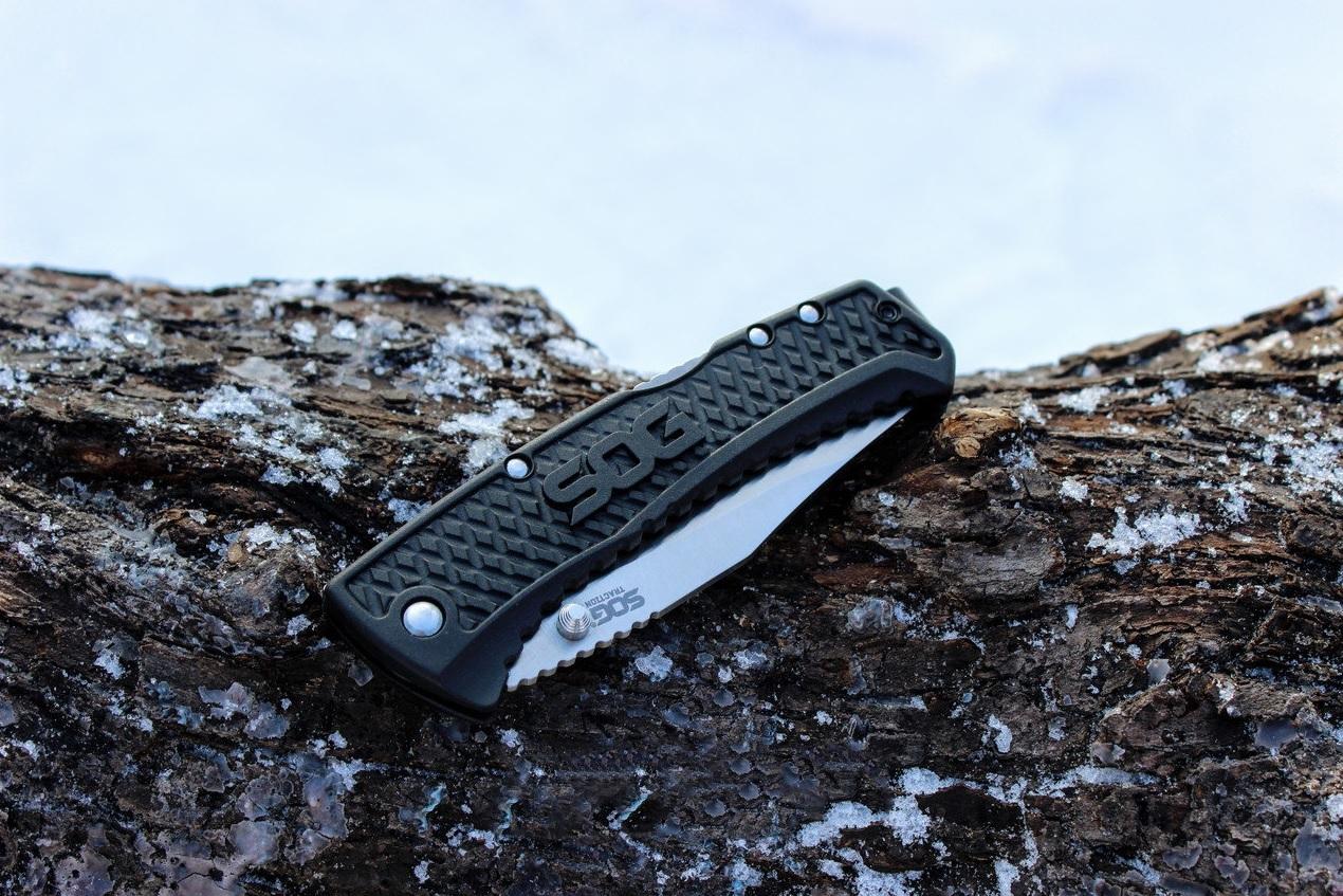 Фото 12 - Складной нож Traction - SOG TG1011, сталь 5Cr13MoV, рукоять термопластик GRN
