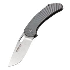Нож складной Boker Plus Aurora, Jens Anso Design, сталь 154CM Stonewash Plain, рукоять титан, Boker 112629, фото 1