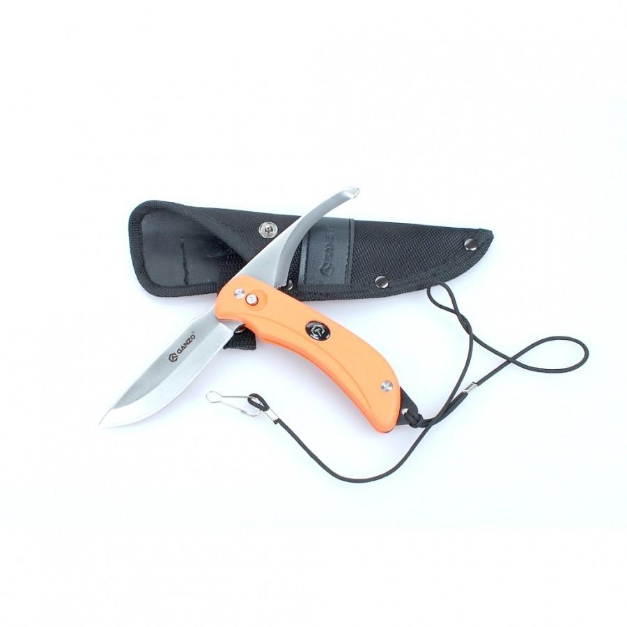 Нож Ganzo G802 с двумя клинками, оранжевый комплект ручных двухпроходных метчиков м11 1 5 hss m2 tin 6524 2шт в боксе профоснастка эксперт 50311031