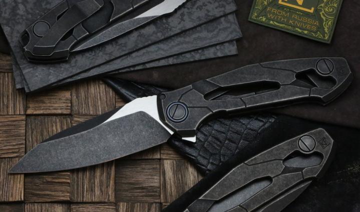 Фото - Складной нож CKF T14B, сталь M390, рукоять Titanium от Custom Knife Factory