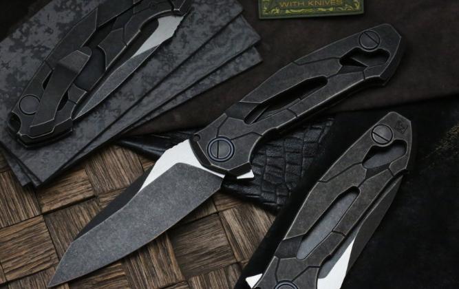 Фото 2 - Складной нож CKF T14B, сталь M390, рукоять Titanium от Custom Knife Factory