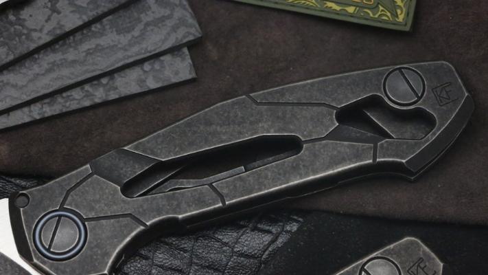 Фото 3 - Складной нож CKF T14B, сталь M390, рукоять Titanium от Custom Knife Factory