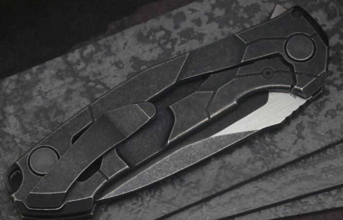 Фото 5 - Складной нож CKF T14B, сталь M390, рукоять Titanium от Custom Knife Factory