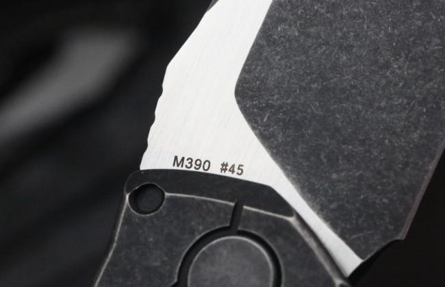Фото 8 - Складной нож CKF T14B, сталь M390, рукоять Titanium от Custom Knife Factory
