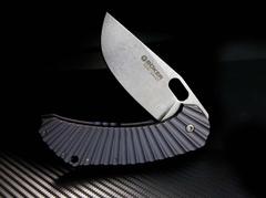Нож складной Boker Plus Aurora, Jens Anso Design, сталь 154CM Stonewash Plain, рукоять титан, Boker 112629, фото 3