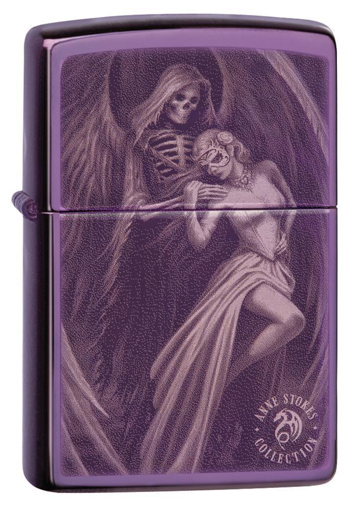 Зажигалка ZIPPO Anne Stokes с покрытием Abyss™, латунь/сталь, сиреневая, глянцевая, 36x12x56 мм