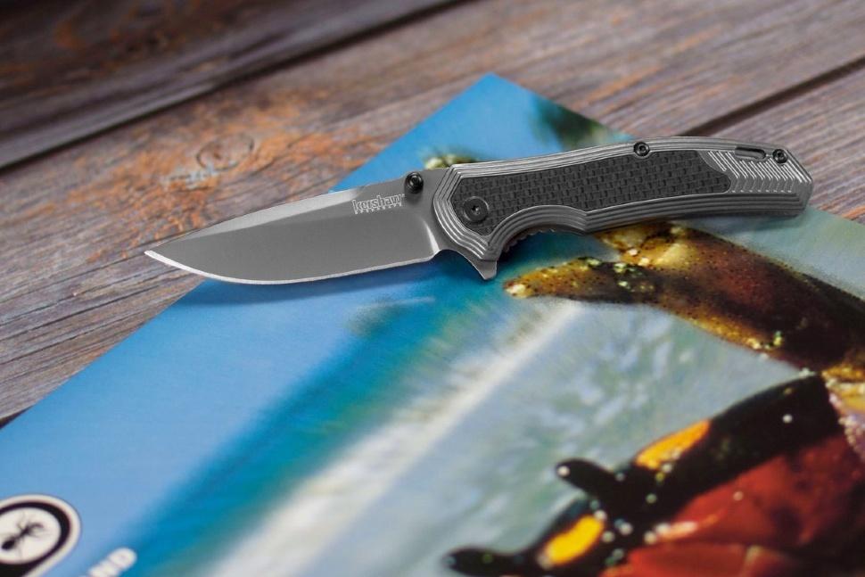 Фото 6 - Нож складной Fringe - Kershaw 8310, сталь 8Cr13MOV, рукоять G-10/карбон