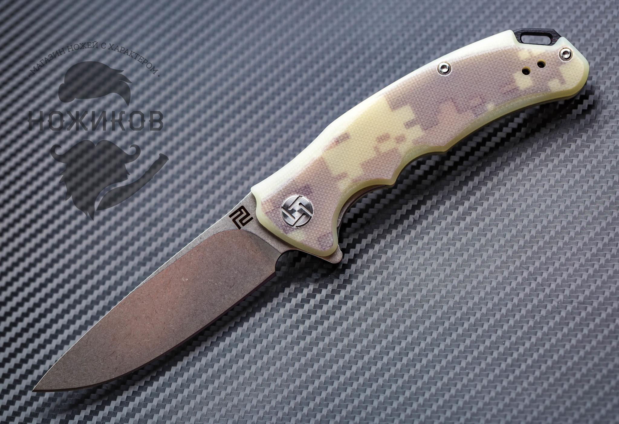 Складной нож Artisan Tradition mini, камуфляж, сталь D2, G10