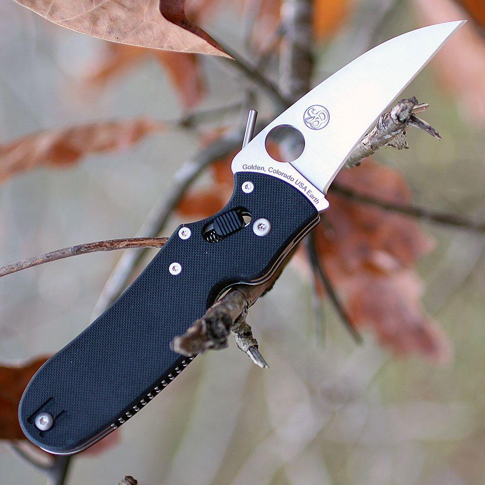 Фото 6 - Нож складной P'Kal™ Spyderco 103GP, сталь Crucible CPM® S30V™ Satin P'Kal's PlainEdge™, рукоять стеклотекстолит G-10, чёрный