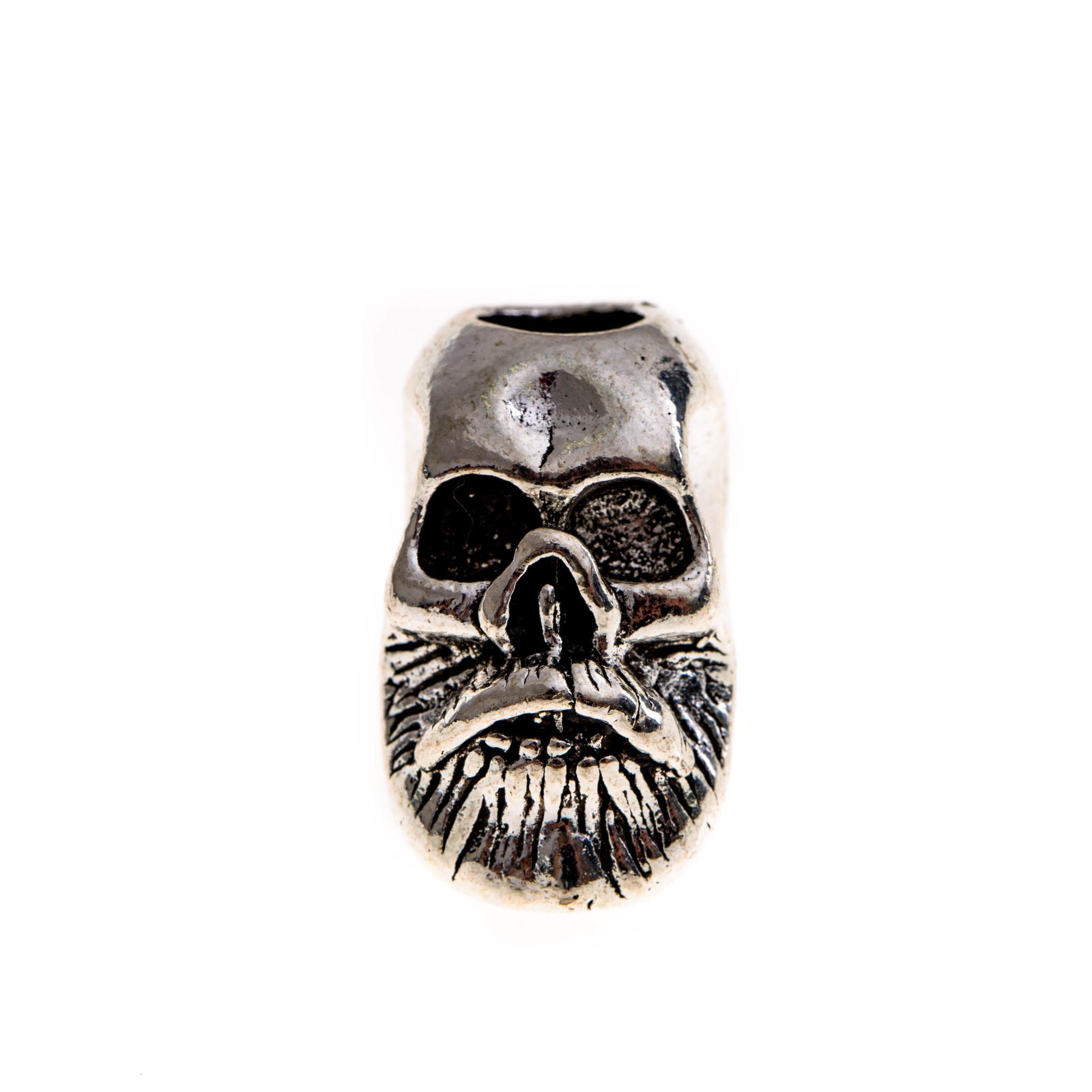 Бусина для темляка Skull, серая бусина для темляка skull