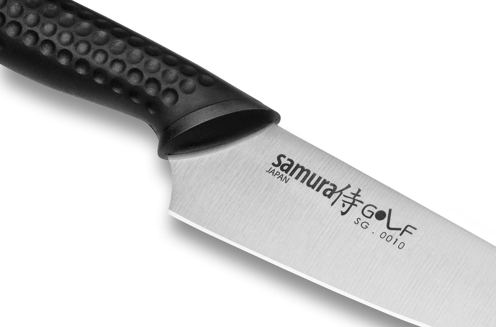 Фото 10 - Нож кухонный овощной Samura GOLF - SG-0010, сталь AUS-8, рукоять полипропилен, 98 мм
