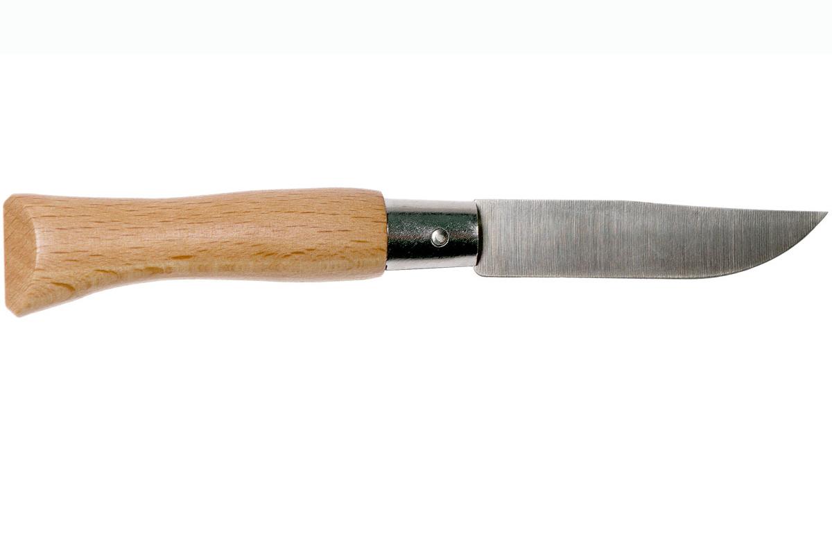 Фото 5 - Складной Нож Opinel Stainless steel №4, нержавеющая сталь Sandvik 12C27, бук, 121040