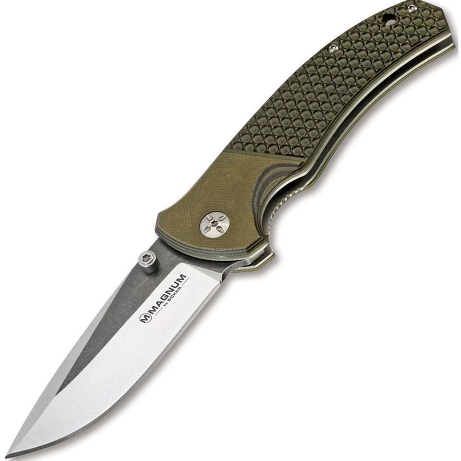 Купить Нож складной Boker Magnum Three Dimensions, сталь 440A 2-Tone Stonewash Plain, рукоять стеклотекстолит G10, 01MB717 в России